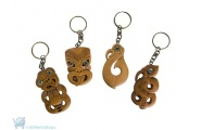 New Zealand Souvenir Carved Wood Keychain