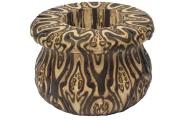 Rangi Fluted Wooden Vase