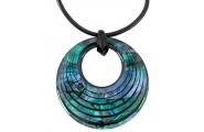 creole curve paua necklace