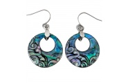 creole wave paua earring shop new zealand