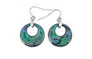 creole curve paua earring shop new zealand