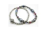 Paua Bead Double Bracelet By Hint of New Zealand