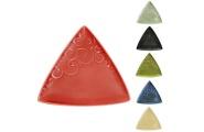 Ceramic Triangle Koru plate – main