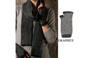 Tweed Handwarmers - Possum Fur and Merino Wool