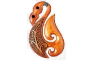 Manaia Maori Design Bone Pendant