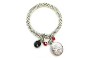 Silver Disc Pohutukawa Coin Bracelet By Hint of New Zealand