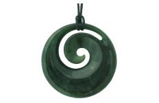 Koru Pendant - Greenstone - B55
