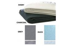 Plain Weave Wool Baby Blanket - Satin Trim