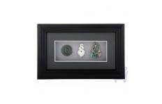 Framed Maori Symbols (Greenstone, Bone, & Paua)