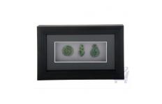 Framed Greenstone 3 Pieces