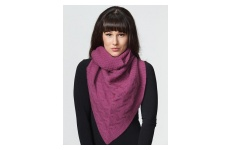 Cable Twist Scarf- Fuchsia Pink