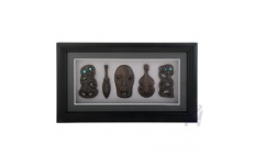Framed Carving- 5 Pieces